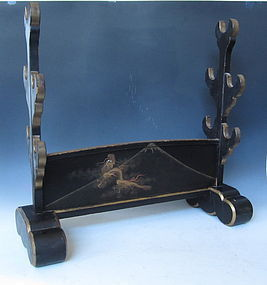 Antique Japanese Sword Stand with Dragon Makie