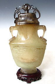 Antique Chinese Jade Vase