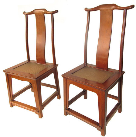 Click to view additional photos. Antique Chinese Pair of Huanghuali Chairs - Antique Chinese Pair Of Huanghuali Chairs.